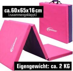 Eyepower Xl Gymnastiek Mat 190x60x5cm Gymnastiek Mat Sport Mat Fitness Zachte Vloer Mat Roze