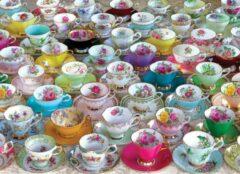 Eurogra Puzzel 1000 stukjes - Tea cups collection
