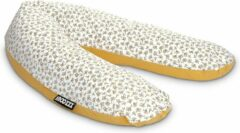 Gele Snoozzz voedingskussen XL Zwangerschapskussen met wasbare hoes Hosta -185 cm