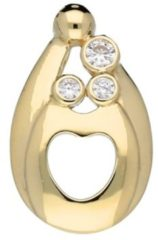 Goudkleurige Best basics Gouden Hanger 'Lovenotes Familypendant' Symbool met 3 zirkonia`s 220.0944.00