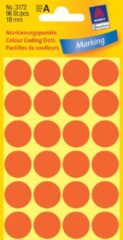 Avery Etiket Zweckform 18mm rond 4 vel a 24 etiketjes lichtrood