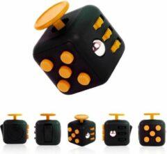 AWR Kwalitatieve Fidget Cube / FriemelKubus   Anti Stress Speelgoed   Fidget Toy - Zwart-Oranje