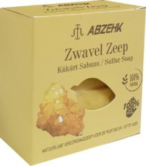Abzehk Zwavel Zeep (Sulfur Soap). 100% Handmade and Natural. Inhoud 150gr + 10gr EXTRA