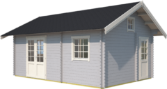 Outdoor Life Products | Blokhut Caroline | Platinum Grey | 595x410