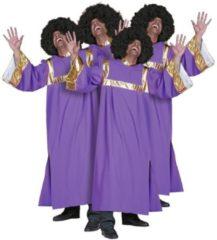 Bruine Fun & Feest Party Gadgets Gospel zanger kostuum heren 50 (m)