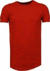Tony Backer Sleeve Ribbel - T-Shirt - Rood Sleeve Ribbel - T-Shirt - Rood Heren T-shirt Maat S