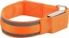 Able & Borret Hardloop LED Band | Reflecterende sport band | Veiligheidsbandje | Oranje