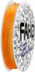 Fako Bijoux® - Elastisch Nylon Draad - Sieraden Maken - 0.5mm - 10 Meter - Oranje