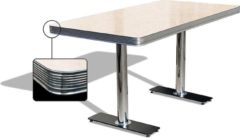 Bel Air Retro Eettafel TO-25W Antique White - Bel Air Retro Eettafel TO-25W Antique White