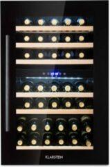 Zwarte Klarstein Vinsider 35D Onyx Edition wijnkoelkast inbouwapparaat energieklasse C