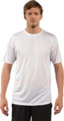 Witte Skinshield by Vapor Apparel - UPF 50+ UV-zonbeschermend heren performance T-Shirt, korte mouwen