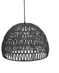 Zwarte LABEL51 - Hanglamp Rope 50x50x30 cm | L - Design - Zwart