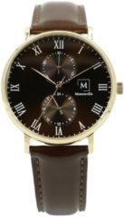 Montreville MON-1 Horloge Reykjavik staal zilverkleurig-blauw 40 mm