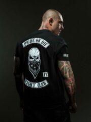 Witte Pride or Die PRiDEorDiE FIGHT CLUB T Shirt Zwart Kies uw maat: M