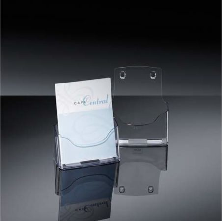 Afbeelding van Sigel acrylic LH112 Follderhouder (tafelmodel) Transparant DIN A5 Aantal vakken 1 1 stuk(s) (b x h x d) 170 x 200 x 75 mm