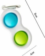 Togadget Simple dimple - TikTok fidget toy - groen/blauw