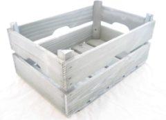 Witte Merkloos / Sans marque Veilingkist hout 39x26x16,5 cm grijs