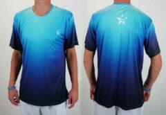 Blauwe Bones Sportswear Heren T-shirt Oddysey Blue maat S