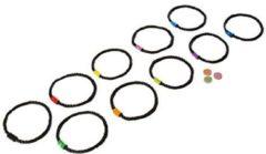 BS Toys hinkelbaan met 10 ringen 30 cm zwart
