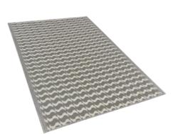 Beliani Buiten-vloerkleed geometrisch patroon grijs 120 x 180 cm. TUMKUR