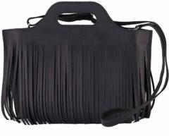 Zwarte MYOMY MY CARRY BAG - Hairy handbag leren handtas