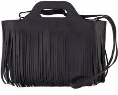 Zwarte MYOMY MY CARRY BAG - Hairy handbag leren handtas