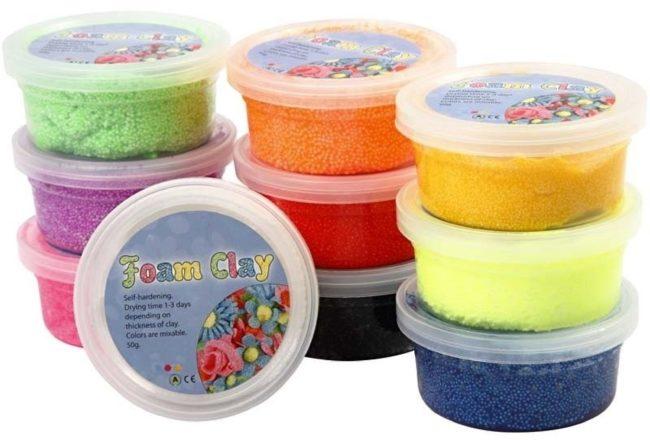 Afbeelding van Paarse Creativ company Foam Clay - Klei - Set met 10 Kleuren van 35 gr