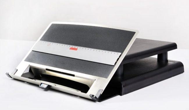 Afbeelding van Ergonomique Monitorstandaard met inklapbare documenthouder ErgoCopy Lift