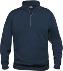Marineblauwe Clique Basic halfzip Donker Navy maat XL