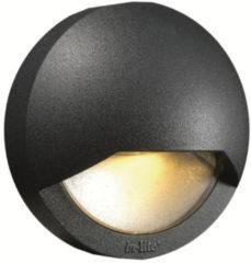 Donkergrijze Inlite In-Lite Gevelverlichting Blink dark Ø 100mm, diepte 48mm