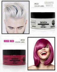 Sevich Professionele en Kwalitatieve Haarverf - Tijdelijke Haarkleur - Haar Wax - Haircoloring Wax - Uitwasbaar - 100% Natuurlijke Ingredienten - Wit