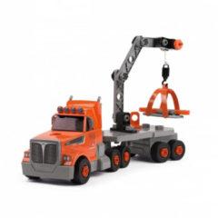 Oranje Smoby - Black & Decker vrachtwagen - gereedschapskist
