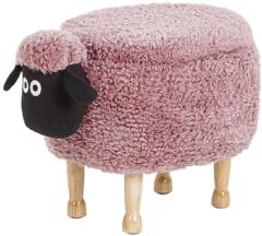 Beliani Hocker met opbergruimte stof roze SHEEP