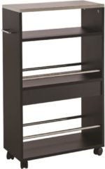 Young Furniture Keukentrolley Coffee 83 cm hoog in zwart