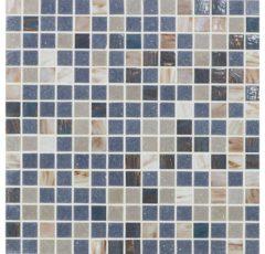 Mozaiek tegel Deco Luce Donatello 32x32cm Blauw Beige Mix