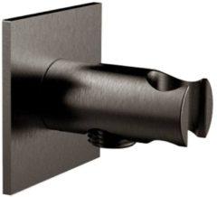Handdouchehouder Herzbach Living Spa PVD-Coating Vierkant 7x7 cm Zwart