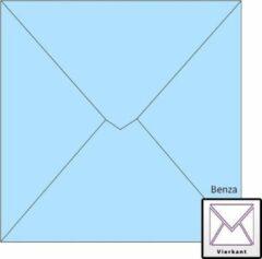 Benza Wenskaart Enveloppen - Vierkant 14 x 14 cm - Baby Blauw - 50 stuks
