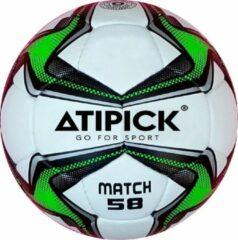 Atipick voetbal 58 cm rubber wit/zwart