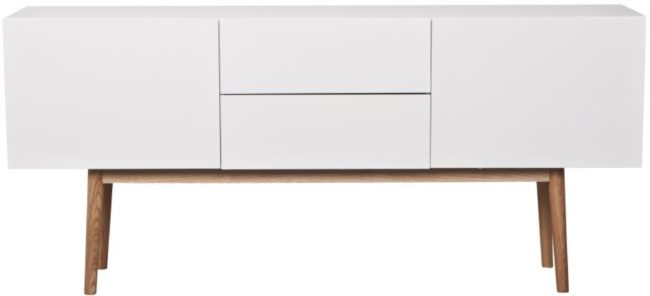Afbeelding van Witte Zuiver Dressoir High On Wood - L160 X B40 X H71.5 Cm - 2DR 2DO - Wit