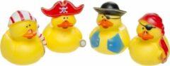 Lg-imports Badeendjes Piraten 7 Cm Geel 4 Stuks