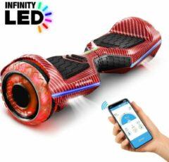 Rode 6,5 inch premium hoverboard Bluewheel HX360 - Duits kwaliteitsmerk - veiligheidsmodus voor kinderen - infinity LED-wielen & app