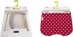 Rode Qibbel ToGo - Windscherm met stylingset - Polka Dots Red