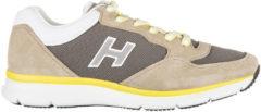 Beige Hogan Scarpe sneakers uomo camoscio h254 h flock t2015