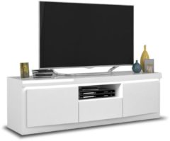 Ameubelment Tv-meubel Spirit 160 cm breed in hoogglans wit