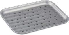 Zilveren Relaxdays grillplaat voor barbecue - bbq bakplaat - barbecue plaat - staal