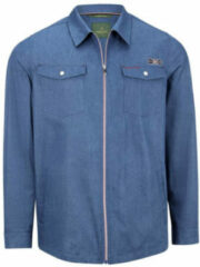 Charles Colby overshirt SIR REEVES Plus Size blauw