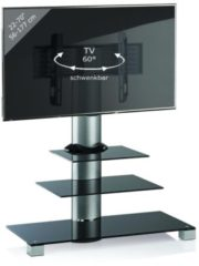 TV-Rack Lowboard Konsole Fernsehtisch TV Möbel Standfuß Glastisch Tisch Phono 'Amalo Mini' VCM Schwarzglas
