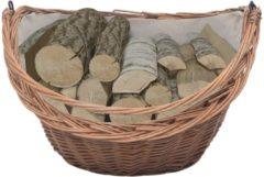 Bruine VidaXL Houtmand met handvat 60x44x55 cm natuurlijk wilgenhout