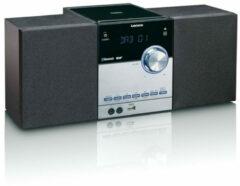 Lenco MC-150 Stereoset AUX, Bluetooth, DAB+, CD, FM, USB, SD 2 x 10 W Zwart, Zilver