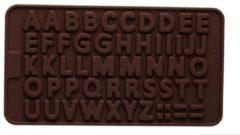 Bruine Leukste Winkeltje Chocoladevorm mal alfabet letters siliconen vorm voor ijsblokjes chocolade fondant - LeuksteWinkeltje